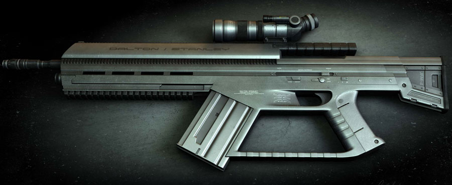 ASRHC1 Assault Sniper Rifle Concept Design (3D)