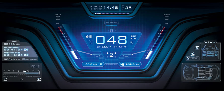 Vehicle Interface (Car Dashboard) GUI Concept Design