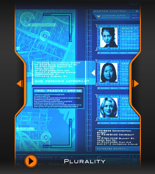 'Plurality' Movie GUI/User Interface Concept Design