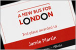 'A New Bus For London' Award Certificate