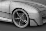 'SHC' Concept Car Design (3D Wireframe)