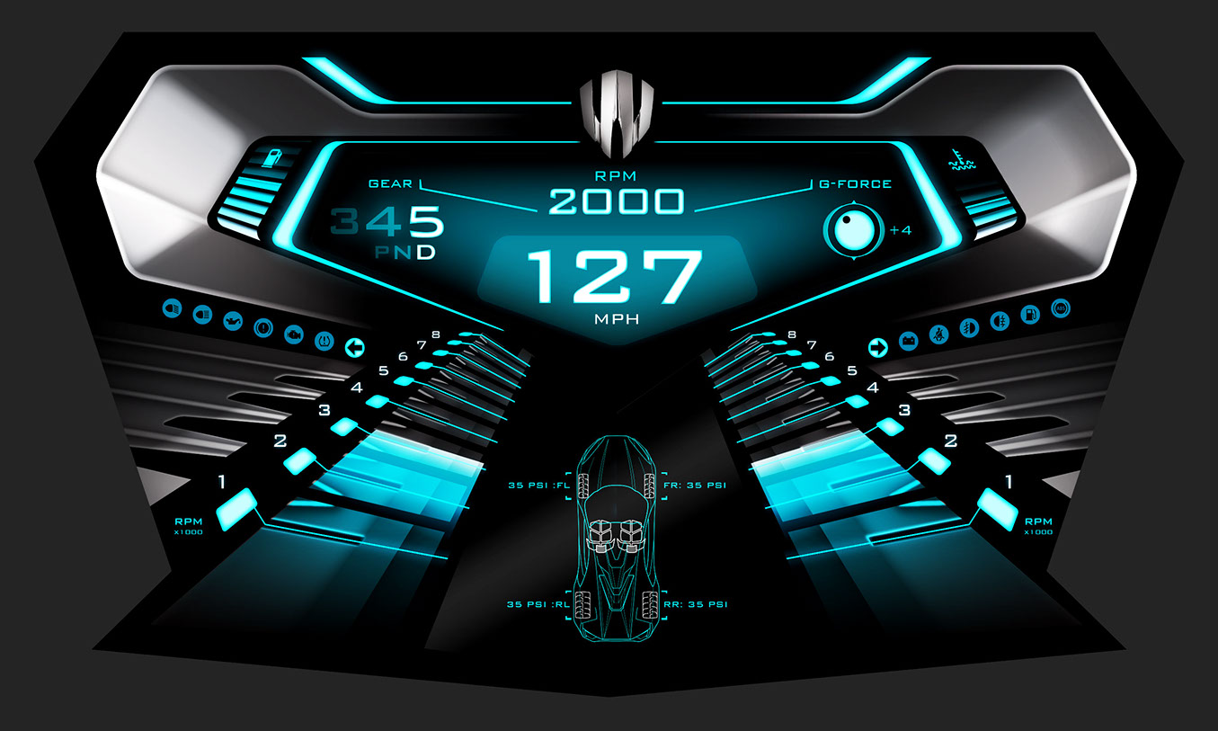 Gui jamie martin concept art for Dash designs car interior shop